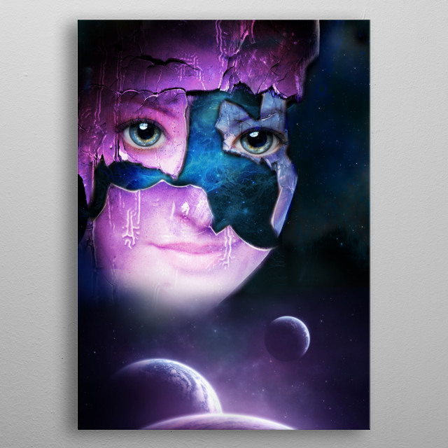 Such a vast universe. metal poster