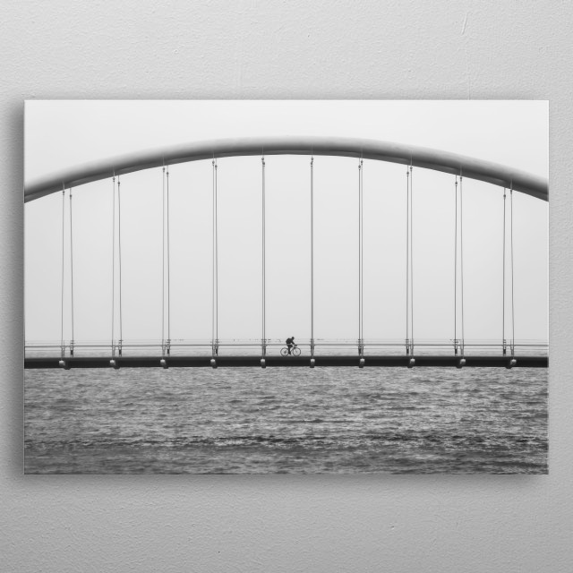 High-quality metal print from amazing Bridge collection will bring unique style to your space and will show off your personality. metal poster