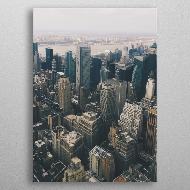 New York 87 metal poster