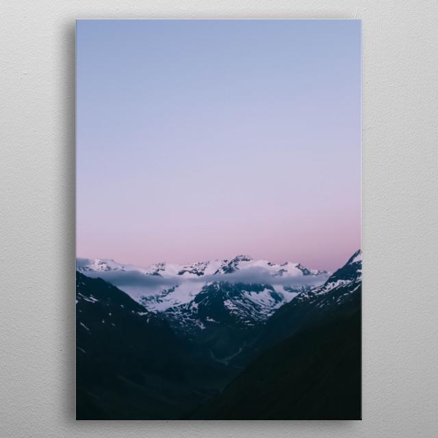 Mountain 66 metal poster