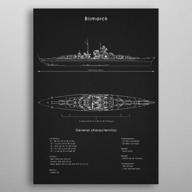 Bismarck metal poster