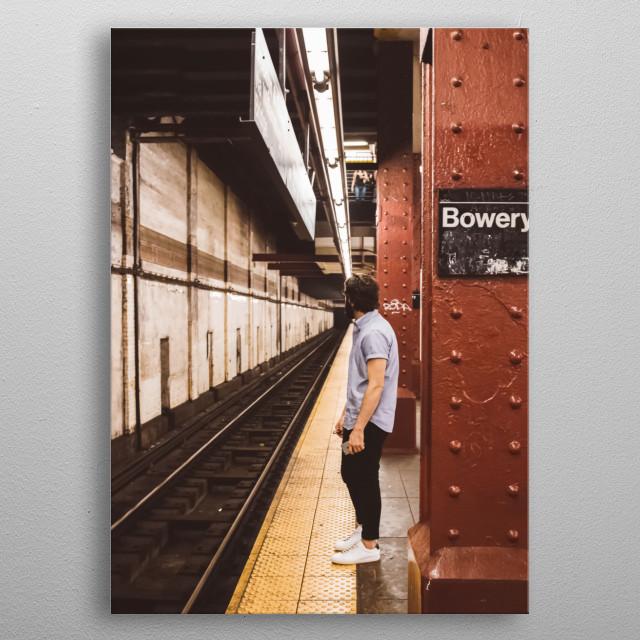 New York 16 metal poster