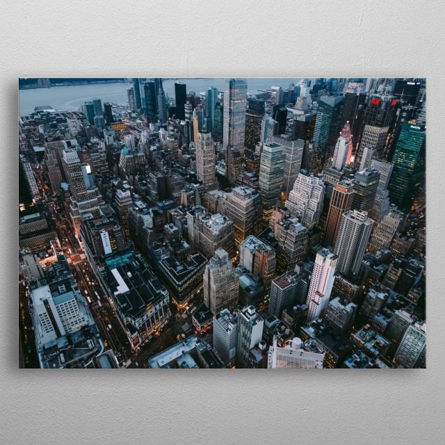 City 300 metal poster