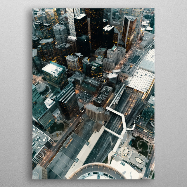 High-quality metal print from amazing City collection will bring unique style to your space and will show off your personality. metal poster