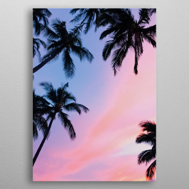 High-quality metal print from amazing Palm Trees collection will bring unique style to your space and will show off your personality. metal poster