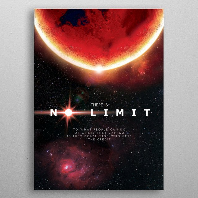Interstellar Art Poster inspired by MARS ONE - a space mission intended to be a one-way permanent settlement trip to Mars. metal poster
