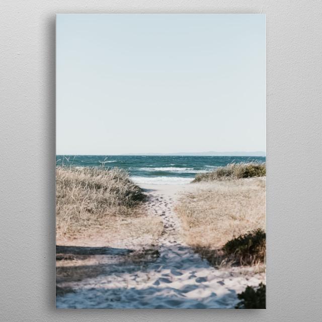 Beach 316 metal poster