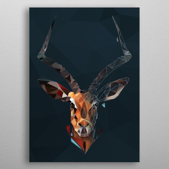 Wild Antelope from Modern Animals collection.  metal poster