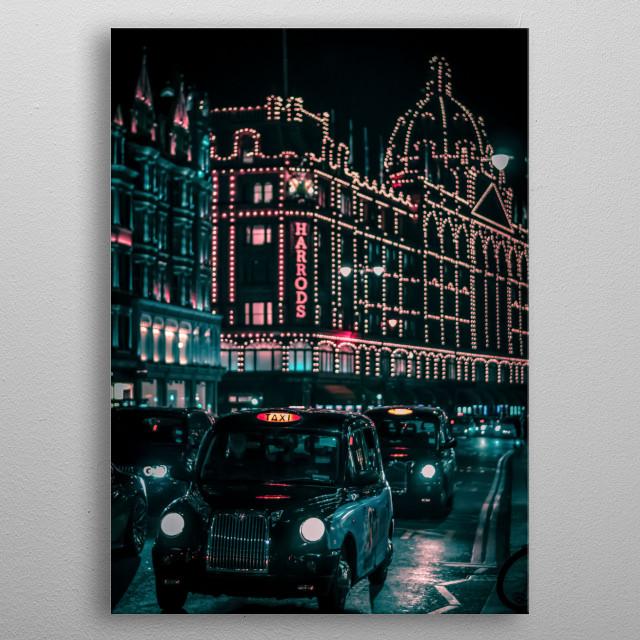 City 304 metal poster