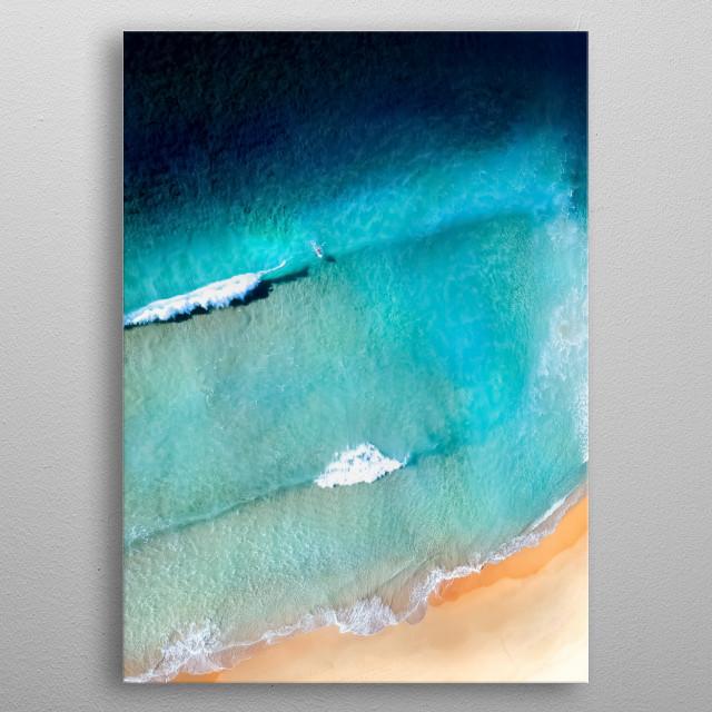Beach 260 metal poster