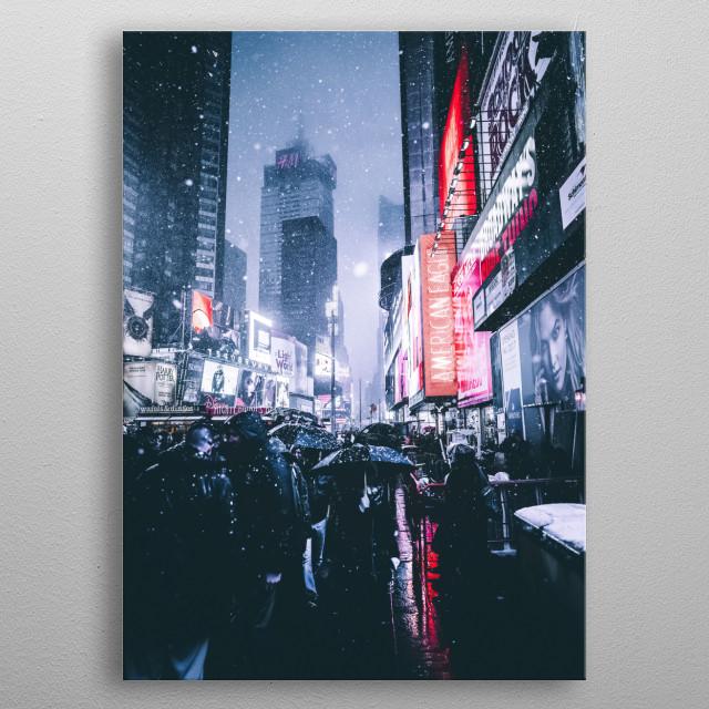 City 35 metal poster