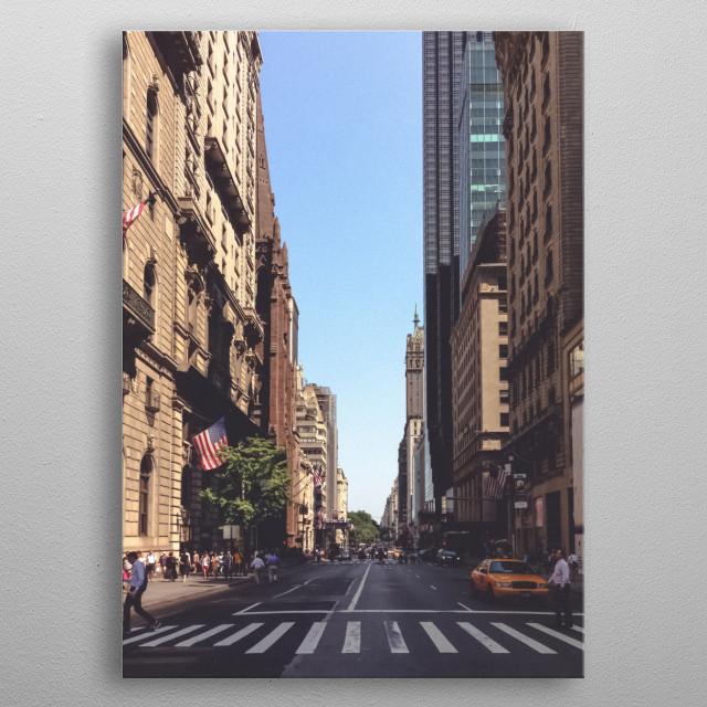 New York 66 metal poster