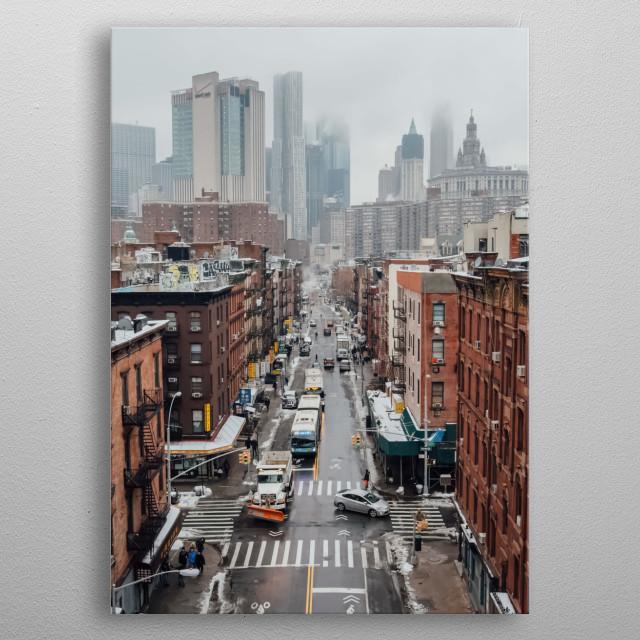 New York 67 metal poster