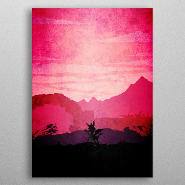 Violet Spyro metal poster