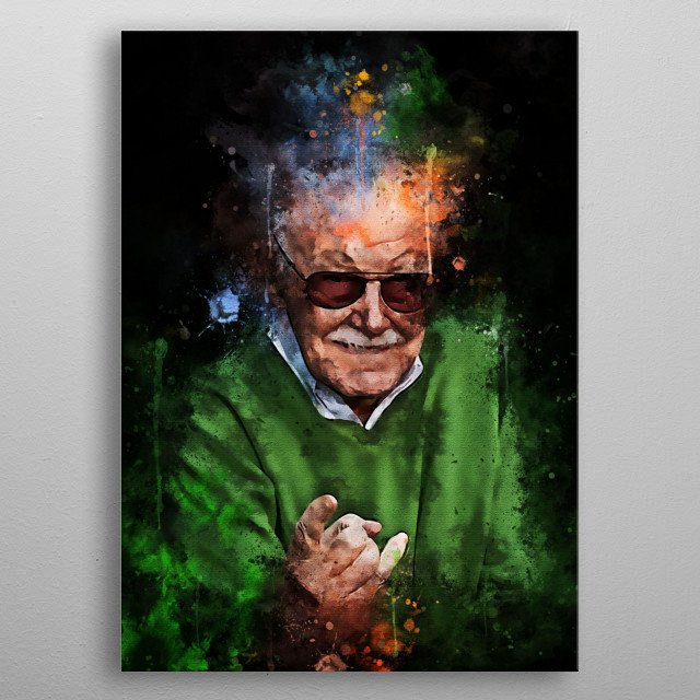 Stan Lee is an American writer, editor, publisher, producer and actor. In 1960 metal poster