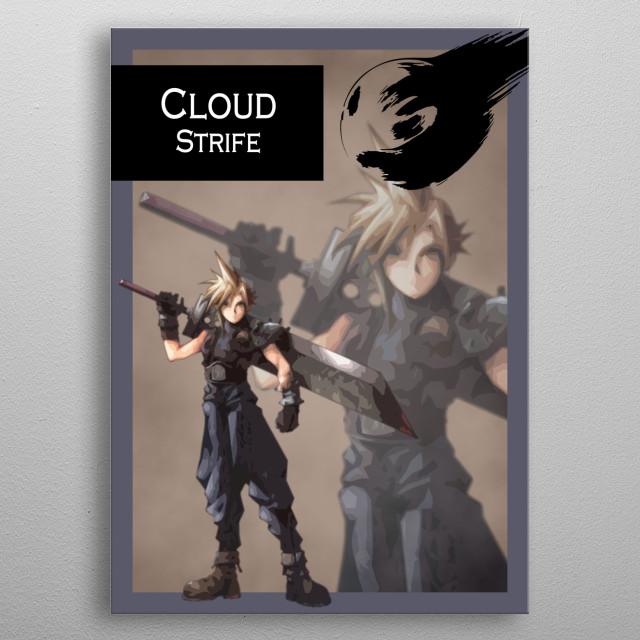 Ff7 Cloud Strife Gaming Poster Print Metal Posters Displate