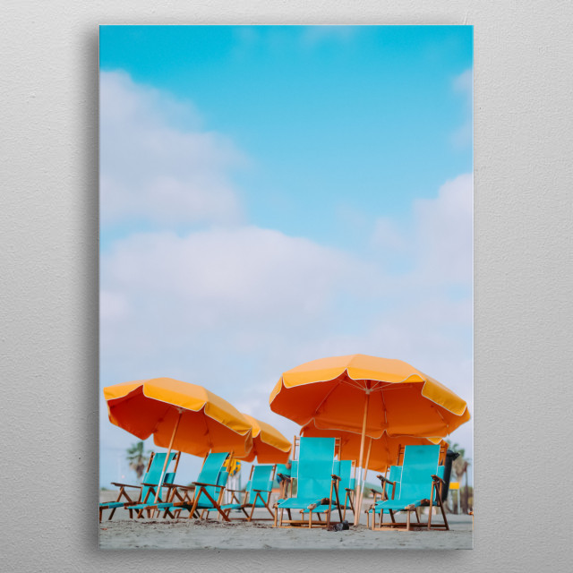 Beach 54 metal poster