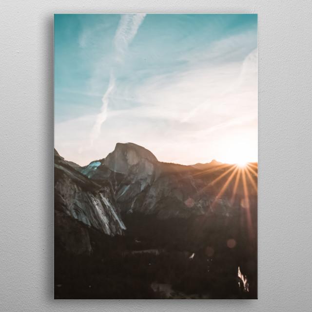Mountain 68 metal poster