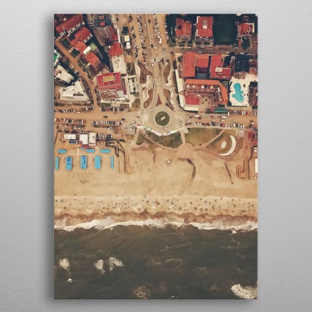 Beach 244 metal poster