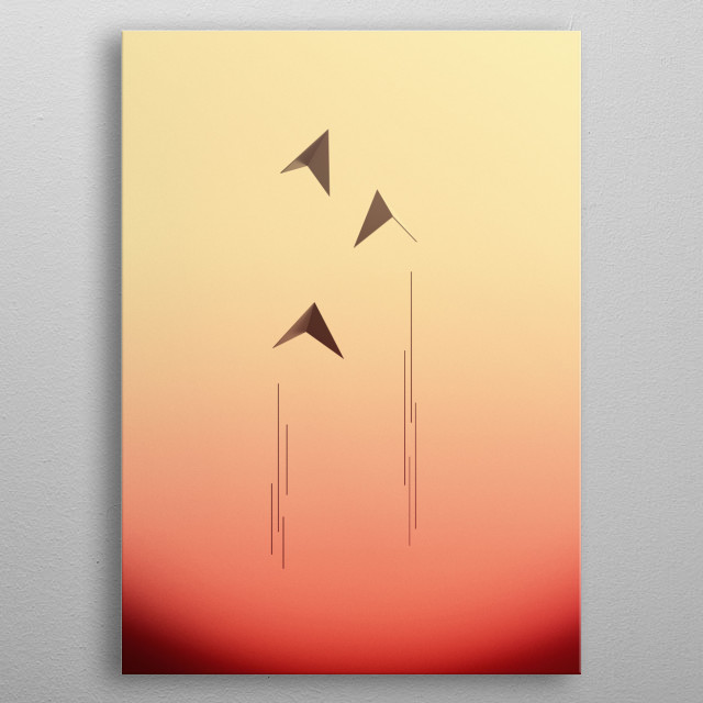 Three birds ascending to the stars. Artwork created in Cinema4D and enhanced in Photoshop, I hope you like it :) metal poster