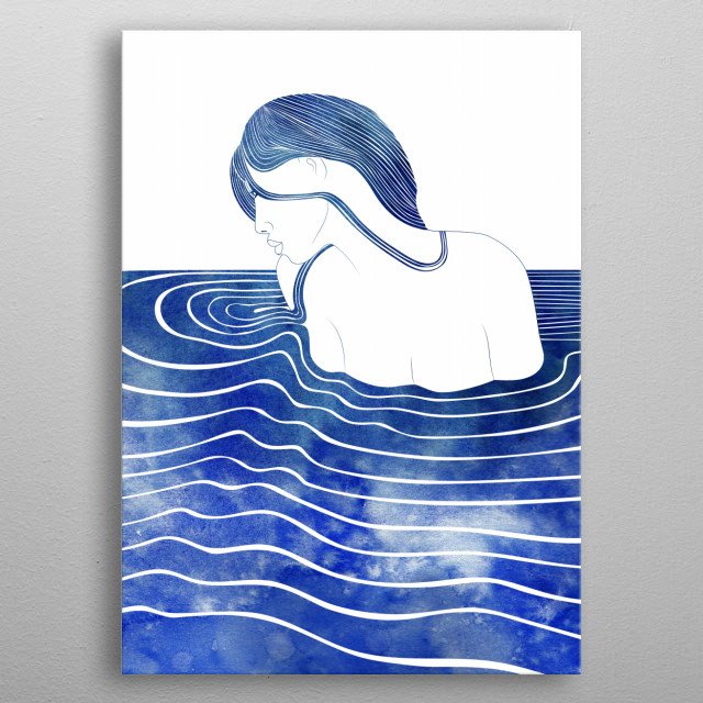 Amphinome - A mythological nereid. One of the daughters of the Nereus, the Old Man of the Sea. metal poster