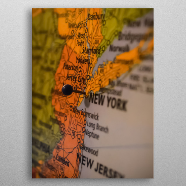 New York 93 metal poster
