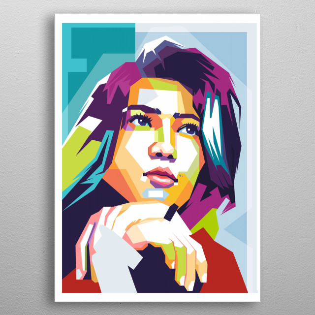 Isyana Sarasvati (Bandung, May 2, 1993) is an Indonesian singer and songwriter. metal poster