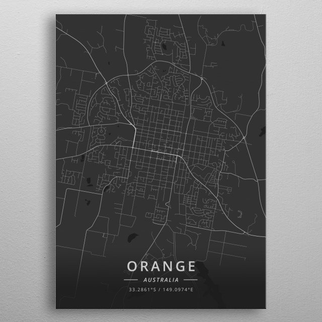 Orange, Australia metal poster