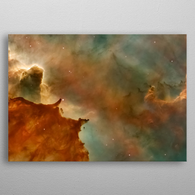 High-quality metal print from amazing Galaxy collection will bring unique style to your space and will show off your personality. metal poster