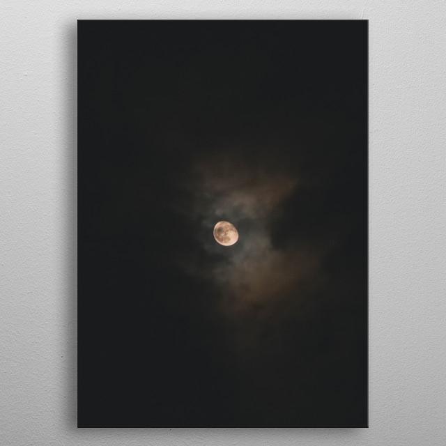 Moon 4 metal poster