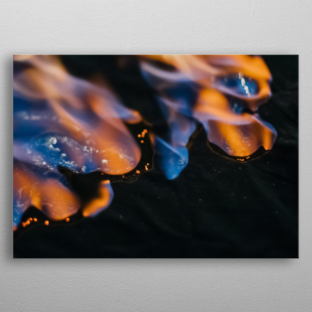 Fire 15 metal poster
