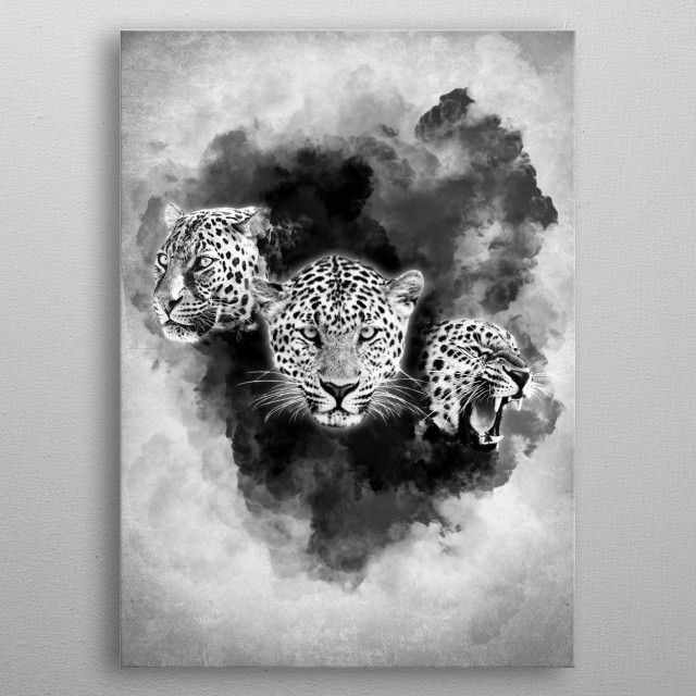 Abstract Leopard Animals Poster Print Metal Posters Displate
