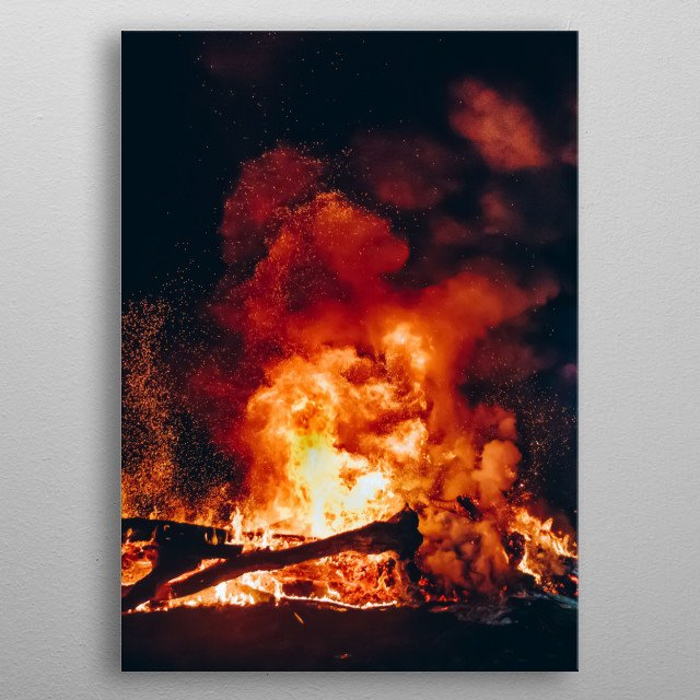 High-quality metal print from amazing Fire collection will bring unique style to your space and will show off your personality. metal poster