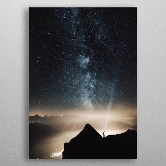 Stars 123 metal poster