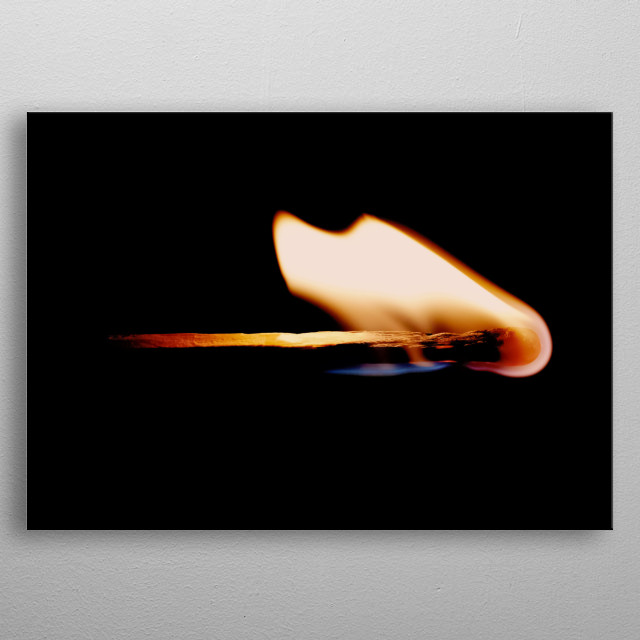 Fire 10 metal poster