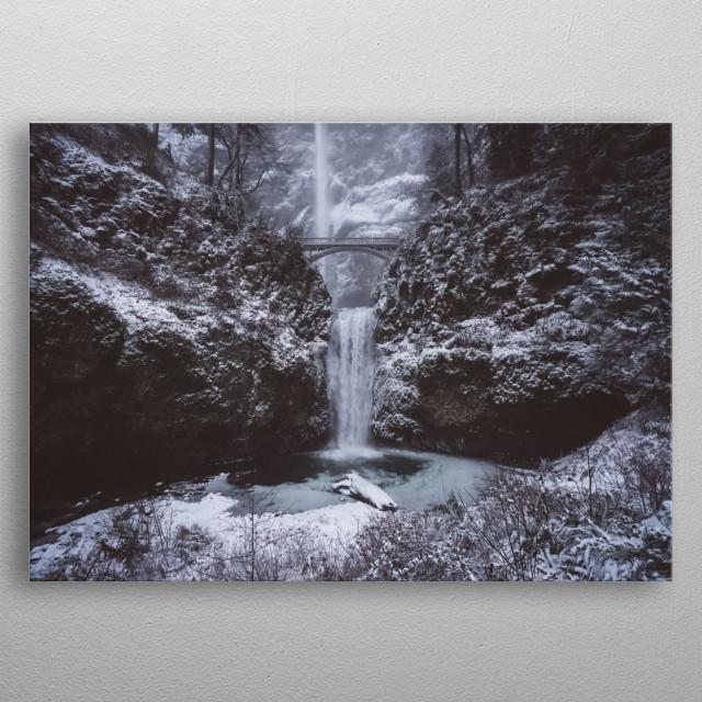 Waterfalls 6 metal poster
