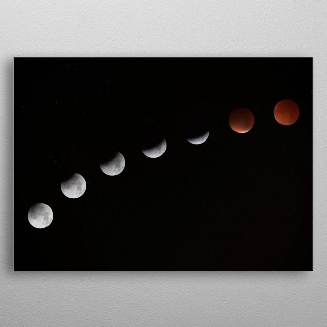 Moon 6 metal poster