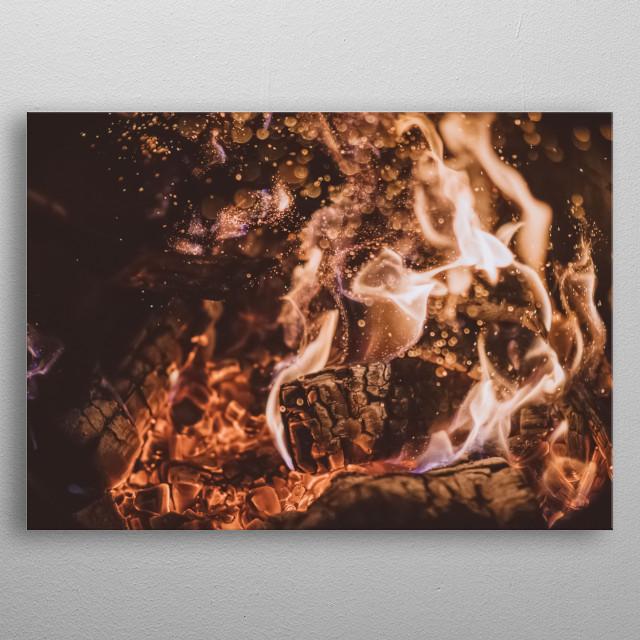 Fire 45 metal poster