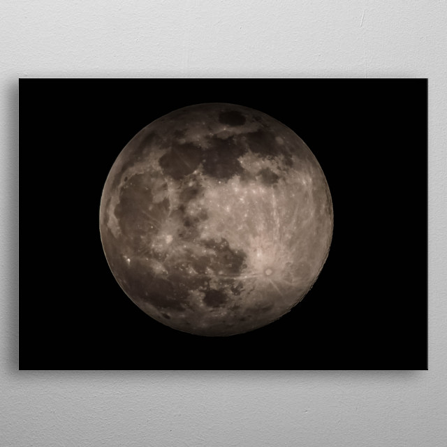 Moon 1 metal poster