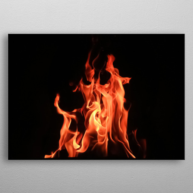 Fire 19 metal poster