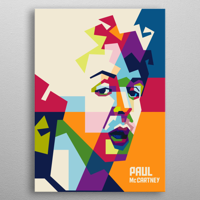 Sir James Paul McCartney  is an English singer-songwriter, Bassist from The Beatles  metal poster
