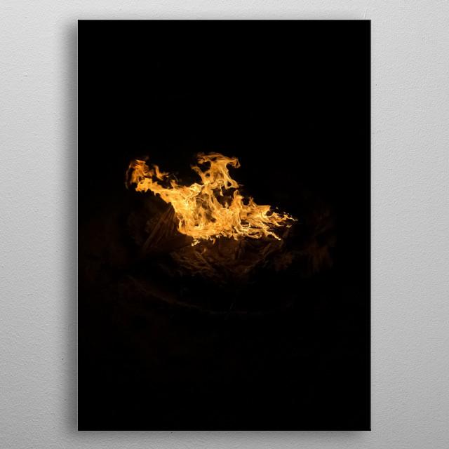Fire 3 metal poster