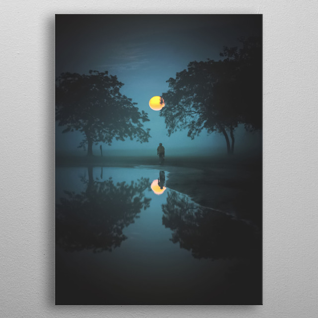 Moon 81 metal poster