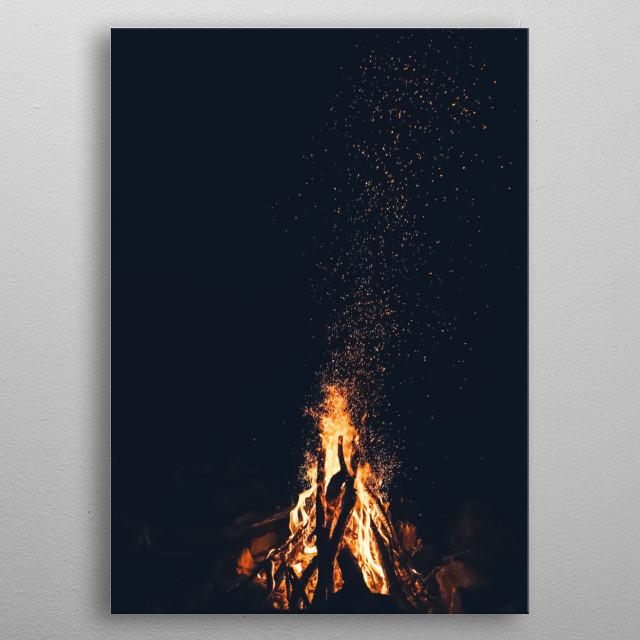 Fire 21 metal poster
