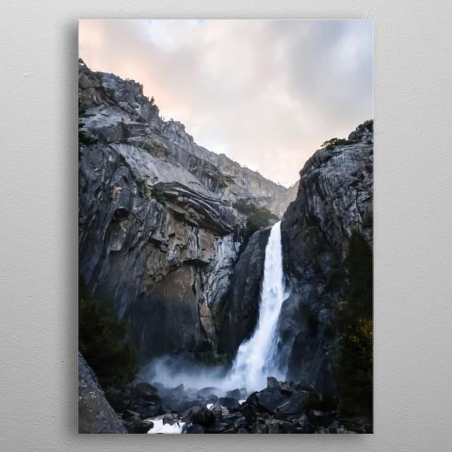 Waterfalls 12 metal poster