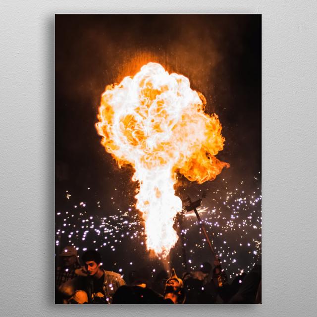 Fire 23 metal poster