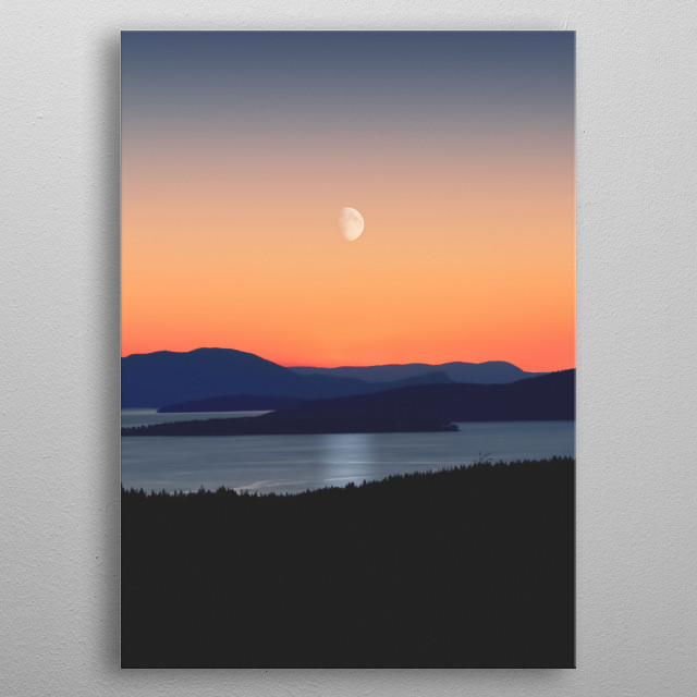 Moon 10 metal poster