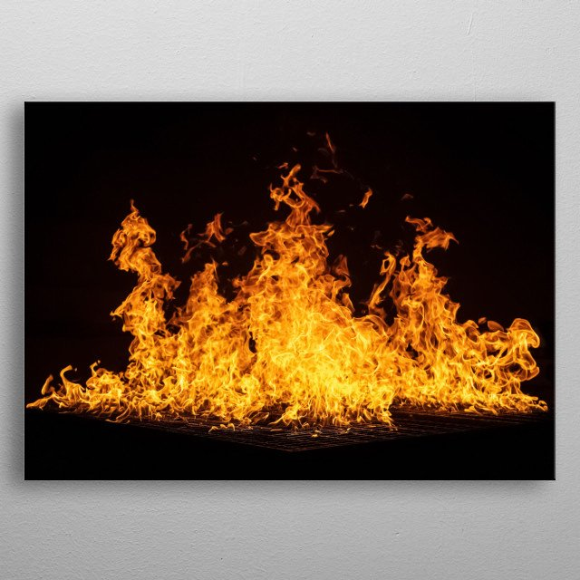 Fire 1 metal poster