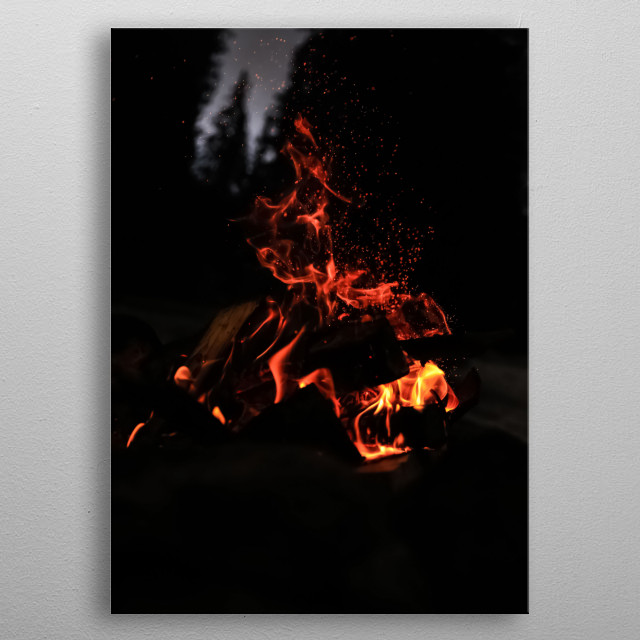 Fire 17 metal poster