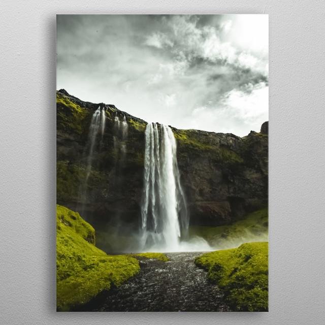 Waterfalls 14 metal poster